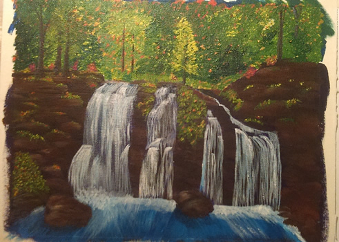An Acrylic Painting of a Secret Grotto - Part 4
