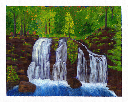 An Acrylic Painting - The Secret Grotto