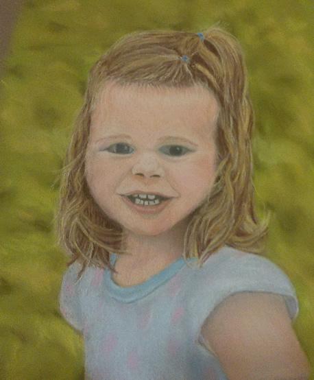 A pastel portrait