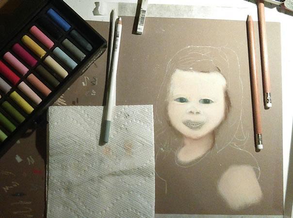 A soft pastel portrait