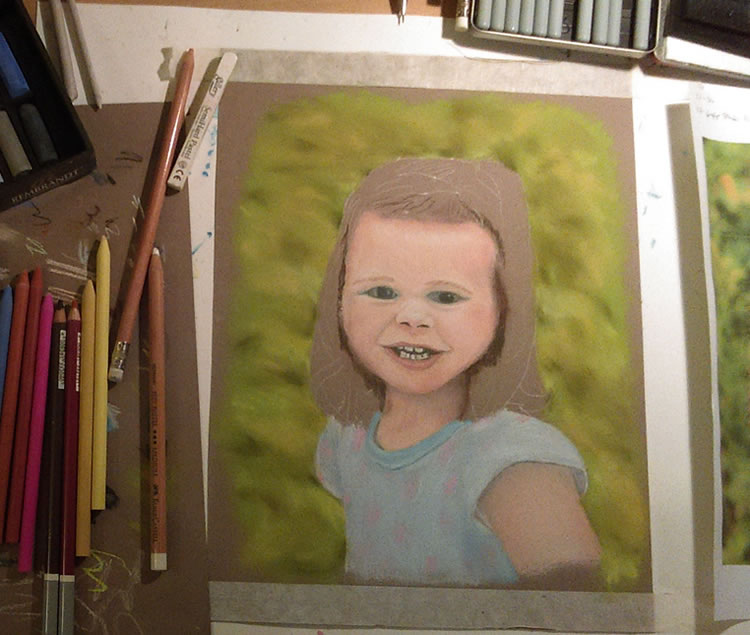 A soft pastel portrait by Brandy Woldstad